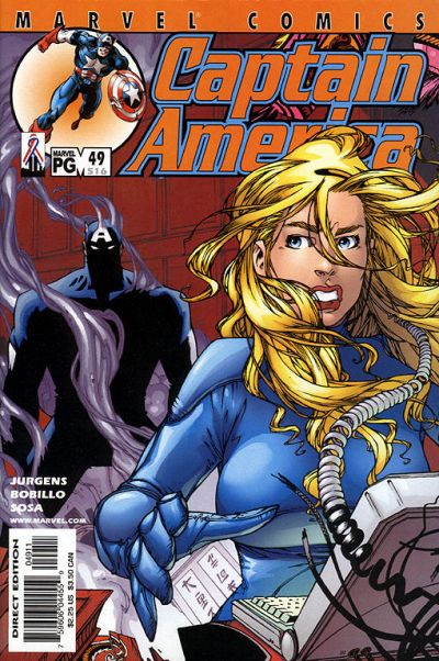 Cover for Captain America (Marvel, 1998 series) #49 (516) [Direct Edition]