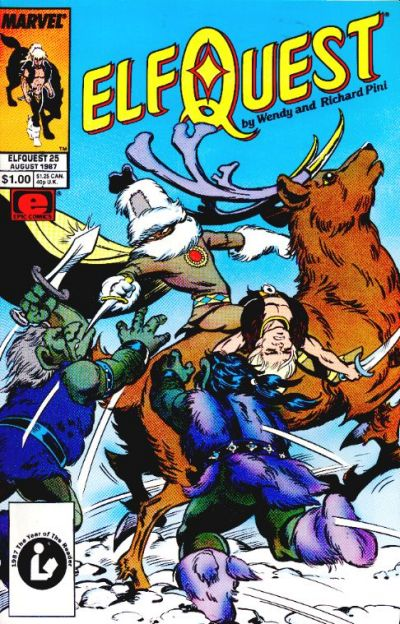 Cover for ElfQuest (Marvel, 1985 series) #25 [Direct]
