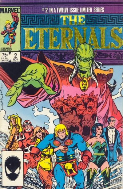 Cover for Eternals (Marvel, 1985 series) #2 [Newsstand]