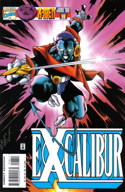 Cover for Excalibur (Marvel, 1988 series) #98 [Direct Edition]