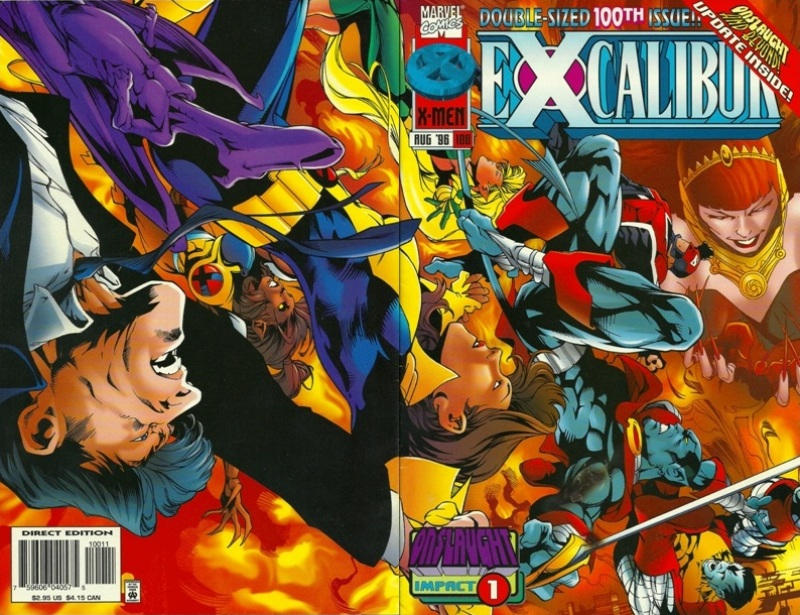 Cover for Excalibur (Marvel, 1988 series) #100 [Direct Edition]