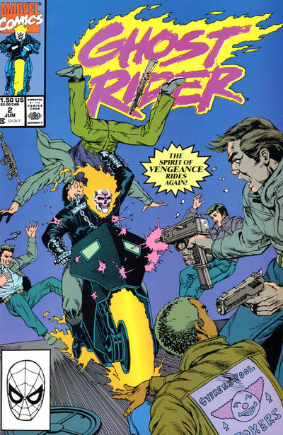 Cover for Ghost Rider (Marvel, 1990 series) #2 [Direct Edition]