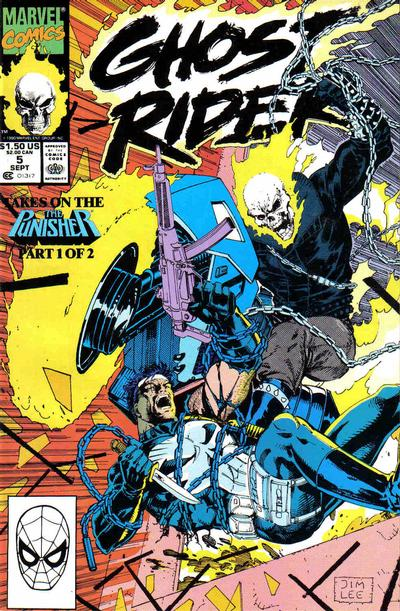 Cover for Ghost Rider (Marvel, 1990 series) #5 [Gold Second Printing]