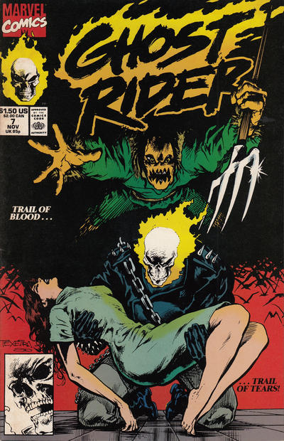 Cover for Ghost Rider (Marvel, 1990 series) #7 [Direct Edition]