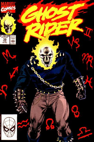 Cover for Ghost Rider (Marvel, 1990 series) #10 [Direct Edition]