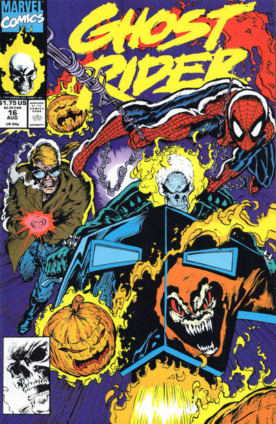 Cover for Ghost Rider (Marvel, 1990 series) #16 [Direct Edition]