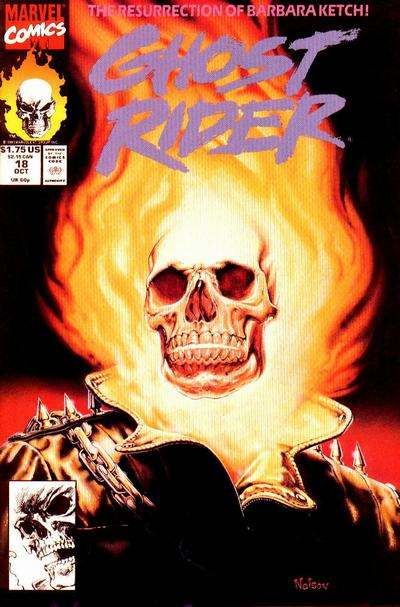 Cover for Ghost Rider (Marvel, 1990 series) #18 [Direct Edition]