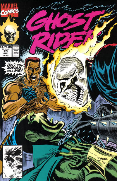Cover for Ghost Rider (Marvel, 1990 series) #20 [Direct Edition]
