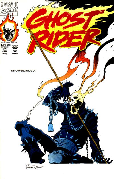 Cover for Ghost Rider (Marvel, 1990 series) #21 [Direct Edition]