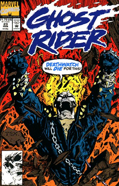 Cover for Ghost Rider (Marvel, 1990 series) #23 [Direct Edition]