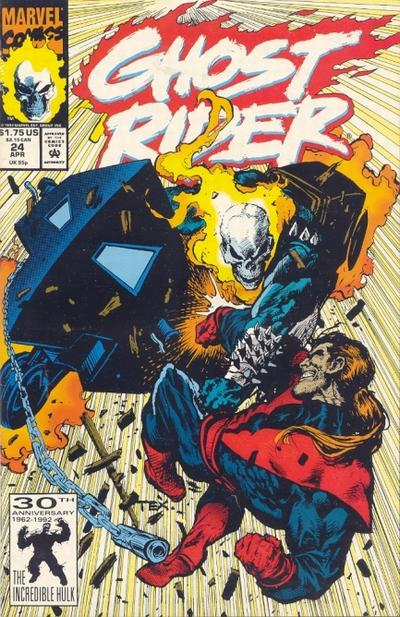 Cover for Ghost Rider (Marvel, 1990 series) #24 [Direct Edition]