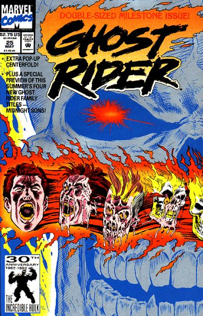 Cover for Ghost Rider (Marvel, 1990 series) #25 [Direct Edition]