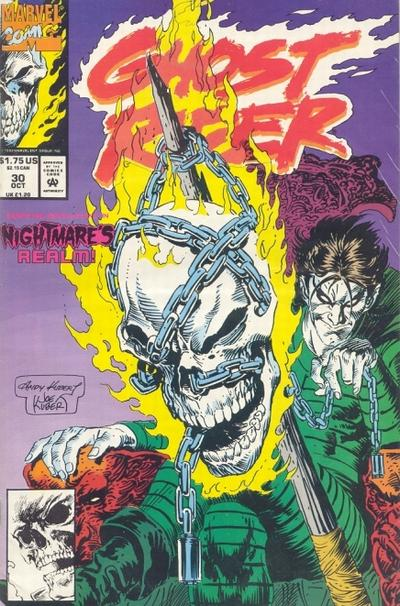 Cover for Ghost Rider (Marvel, 1990 series) #30 [Newsstand Edition]