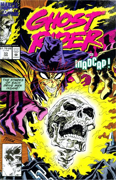 Cover for Ghost Rider (Marvel, 1990 series) #33 [Direct Edition]