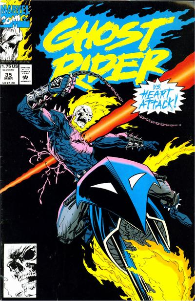Cover for Ghost Rider (Marvel, 1990 series) #35 [Direct Edition]
