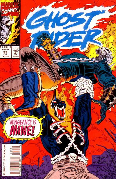 Cover for Ghost Rider (Marvel, 1990 series) #39 [Direct Edition]
