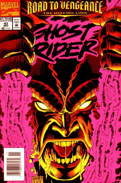 Cover for Ghost Rider (Marvel, 1990 series) #43 [Newsstand Edition]