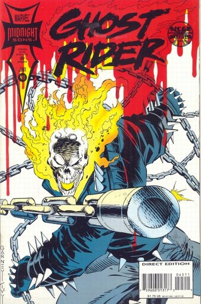 Cover for Ghost Rider (Marvel, 1990 series) #45 [Direct Edition]