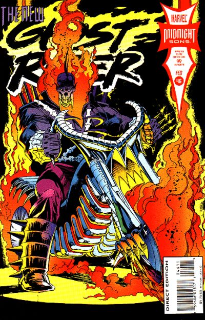Cover for Ghost Rider (Marvel, 1990 series) #46 [Direct Edition]