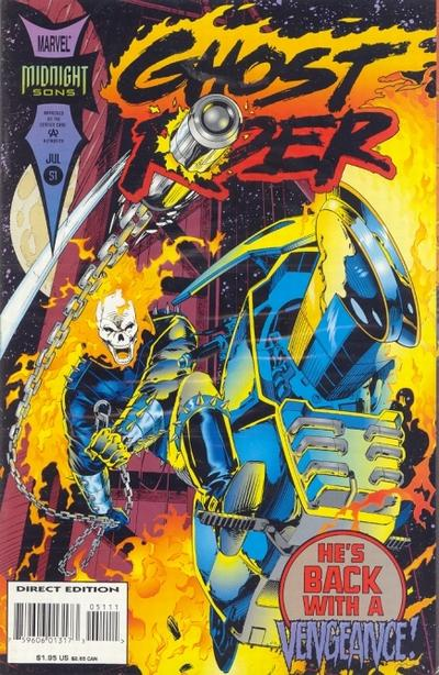 Cover for Ghost Rider (Marvel, 1990 series) #51 [Direct Edition]