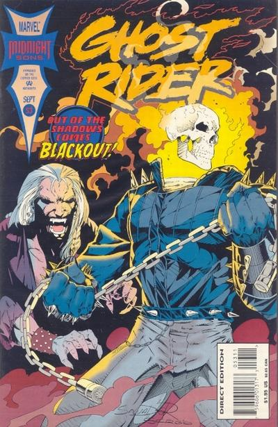 Cover for Ghost Rider (Marvel, 1990 series) #53 [Direct Edition]