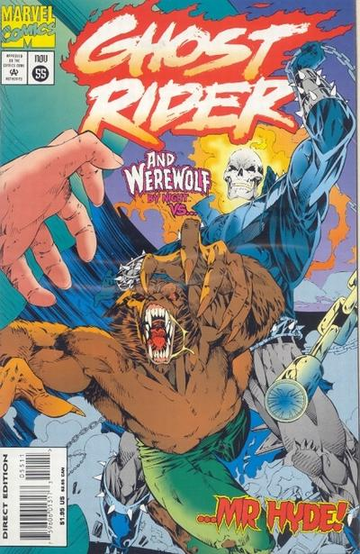 Cover for Ghost Rider (Marvel, 1990 series) #55 [Direct Edition]