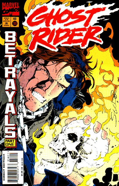 Cover for Ghost Rider (Marvel, 1990 series) #58 [Direct Edition]