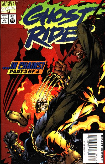 Cover for Ghost Rider (Marvel, 1990 series) #64 [Direct Edition]