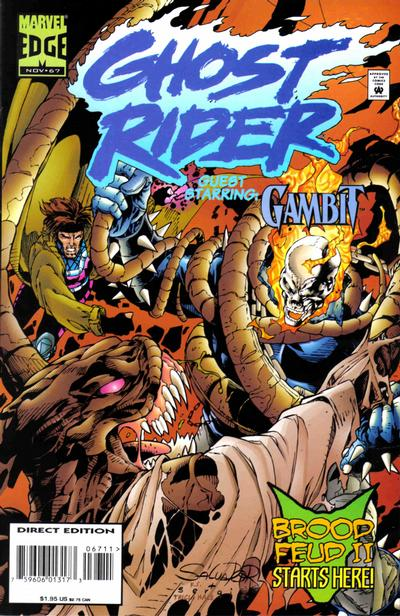 Cover for Ghost Rider (Marvel, 1990 series) #67 [Direct Edition]