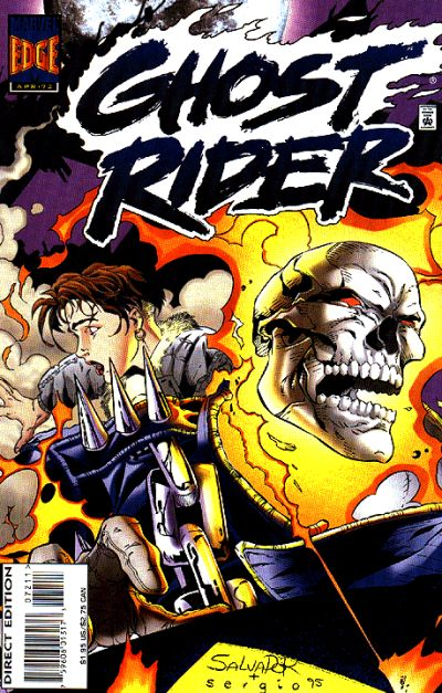Cover for Ghost Rider (Marvel, 1990 series) #72 [Direct Edition]