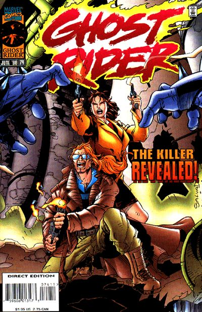 Cover for Ghost Rider (Marvel, 1990 series) #74 [Direct Edition]