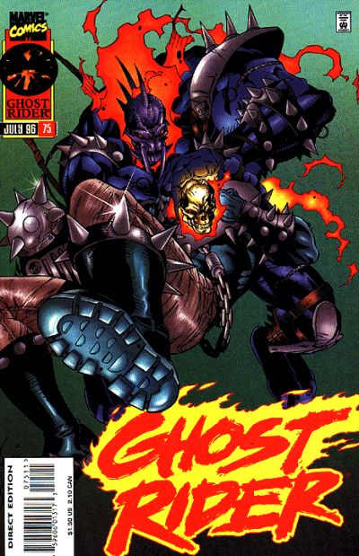 Cover for Ghost Rider (Marvel, 1990 series) #75 [Direct Edition]