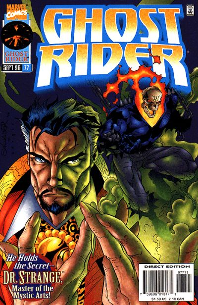 Cover for Ghost Rider (Marvel, 1990 series) #77 [Direct Edition]