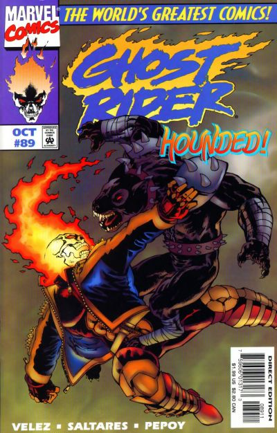 Cover for Ghost Rider (Marvel, 1990 series) #89