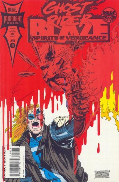 Cover for Ghost Rider / Blaze: Spirits of Vengeance (Marvel, 1992 series) #18