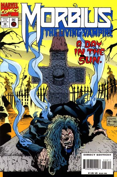 Cover for Morbius: The Living Vampire (Marvel, 1992 series) #28