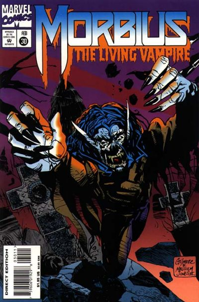Cover for Morbius: The Living Vampire (Marvel, 1992 series) #30