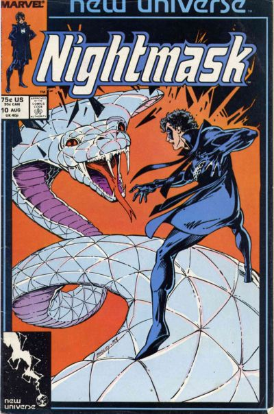 Cover for Nightmask (Marvel, 1986 series) #10