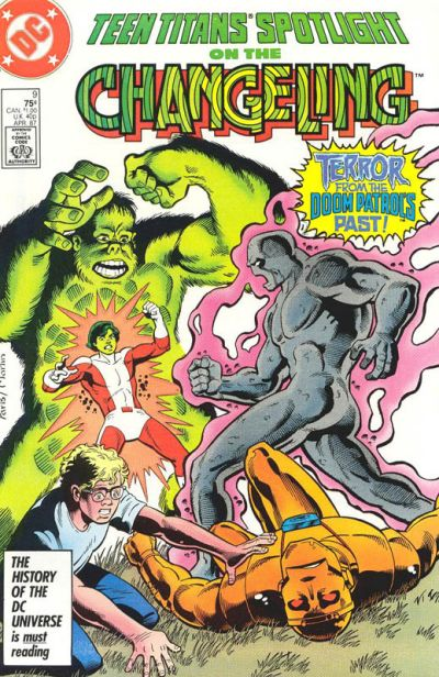 Cover for Teen Titans Spotlight (DC, 1986 series) #9 [Direct Sales]