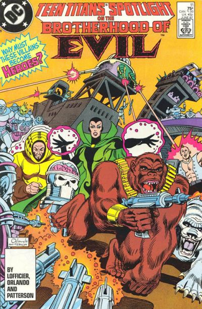 Cover for Teen Titans Spotlight (DC, 1986 series) #11 [Direct Sales]