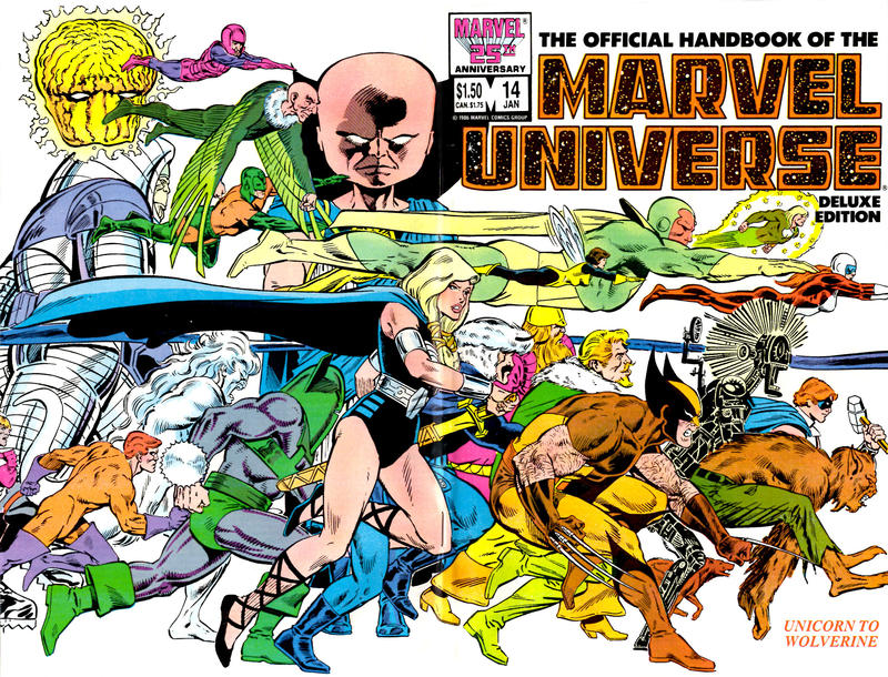 Cover for The Official Handbook of the Marvel Universe (Marvel, 1985 series) #14 [Direct]