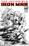 Cover for Invincible Iron Man (Marvel, 2008 series) #508 [Variant Edition - Black and White]