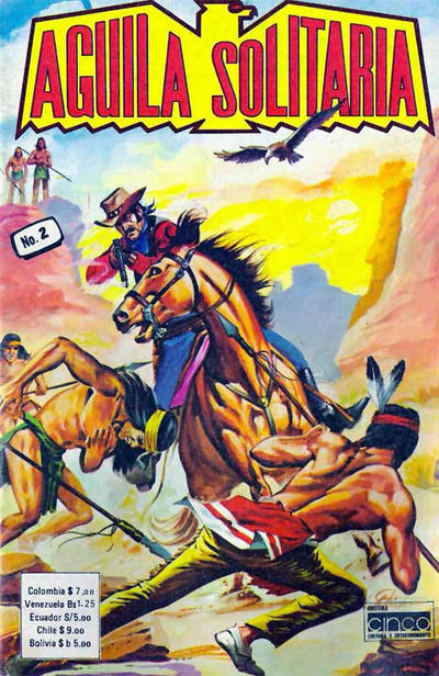 Cover for Aguila Solitaria (Editora Cinco, 1976 ? series) #2