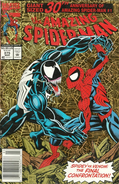 Cover for The Amazing Spider-Man (Marvel, 1963 series) #375 [Direct Edition]