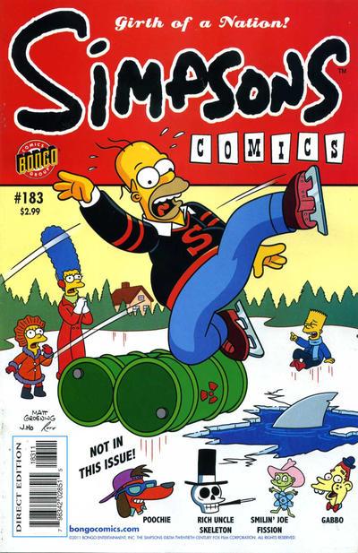 Cover for Simpsons Comics (Bongo, 1993 series) #183