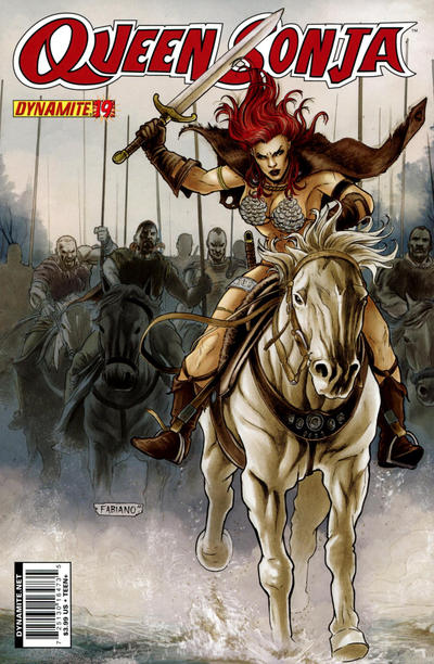 Cover for Queen Sonja (Dynamite Entertainment, 2009 series) #19 [Fabiano Neves Cover]
