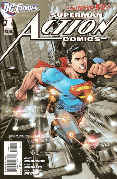 Cover for Action Comics (DC, 2011 series) #1 [2nd Printing Cover]