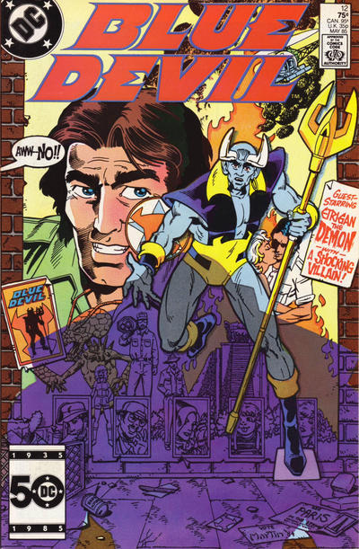 Cover for Blue Devil (DC, 1984 series) #12 [Newsstand Edition]
