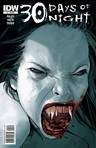 Cover for 30 Days of Night (IDW, 2011 series) #1 [Cover B Sam Kieth]