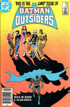 Cover Thumbnail for Batman and the Outsiders (1983 series) #32 [Newsstand]